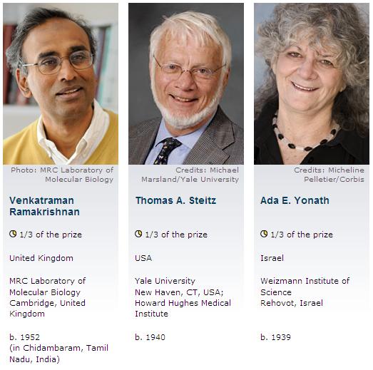 The Nobel Prize in Chemistry 2009